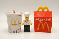 CHEF LEGO deserves a break :P (kingkong21) Tags: lego mcdonalds milkshake happymeal cheflego