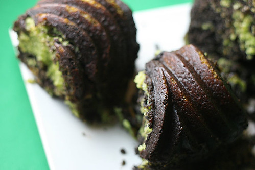 Chocolate Matcha Bundt Cake