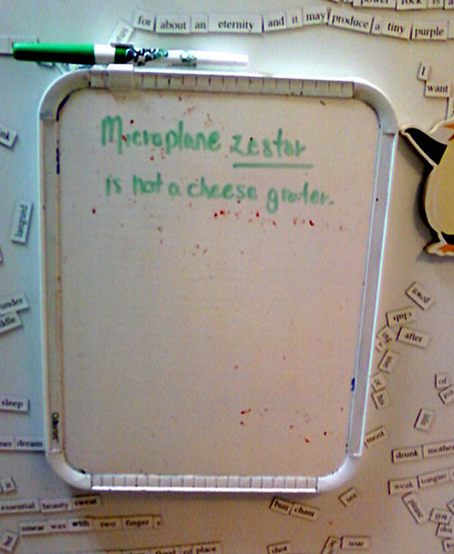 Microplane zester is not a cheese grater.