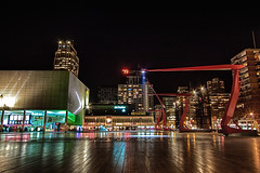 Schouwburgplein - Rotterdam (DolliaSH) Tags: city longexposure trip travel light vacation people urban holiday cinema holland color tourism colors dutch architecture night photoshop canon reflections photography eos lights noche photo rotterdam europe foto tour place nightshot photos nacht tripod nederland thenetherlands wideangle visit location tourist le journey destination traveling visiting ultrawide nuit plein efs 1022mm notte hdr touring stad 1022 architectuur nn bioscoop pathe noch schouwburgplein zuidholland nationalenederlanden cs4 southholland photomatix 50d tonemapping nachtopname dedoelen canon50d dollia oneofmypics dollias sheombar