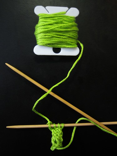Knitting a Green Stem