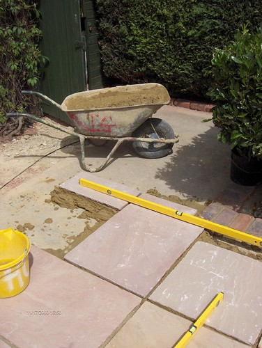 Indian Sandstone Patio and Lawn Image 12