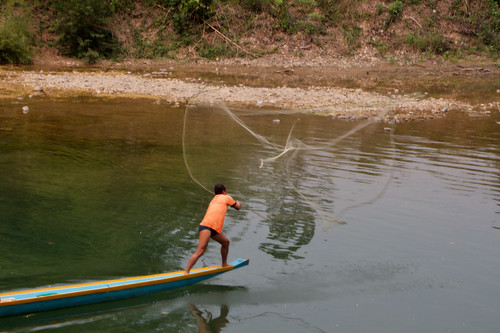 Fisherman in Vang Vieng
