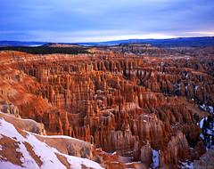 Another Inspiration Point View (Tyler Westcott) Tags: snow sunrise nationalpark sandstone february brycecanyon inspirationpoint largeformat fujivelvia50 americansouthwest tachihara brycecanyonnp southwest2009