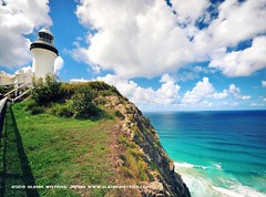 Byron Bay Lighthouse  Glenn E Waters .(Explored). Over 8,000 visits to this photo. Thank you. (Glenn Waters in Japan.) Tags: ocean sky lighthouse water clouds landscape interesting nikon waves pacific australian australia explore nsw    byronbay eastcoast headland   explored 1424  d700 nikond700 goldstaraward   glennwaters nikkorafs1424mmf28 vosplusbellesphotos internationalflickrawards