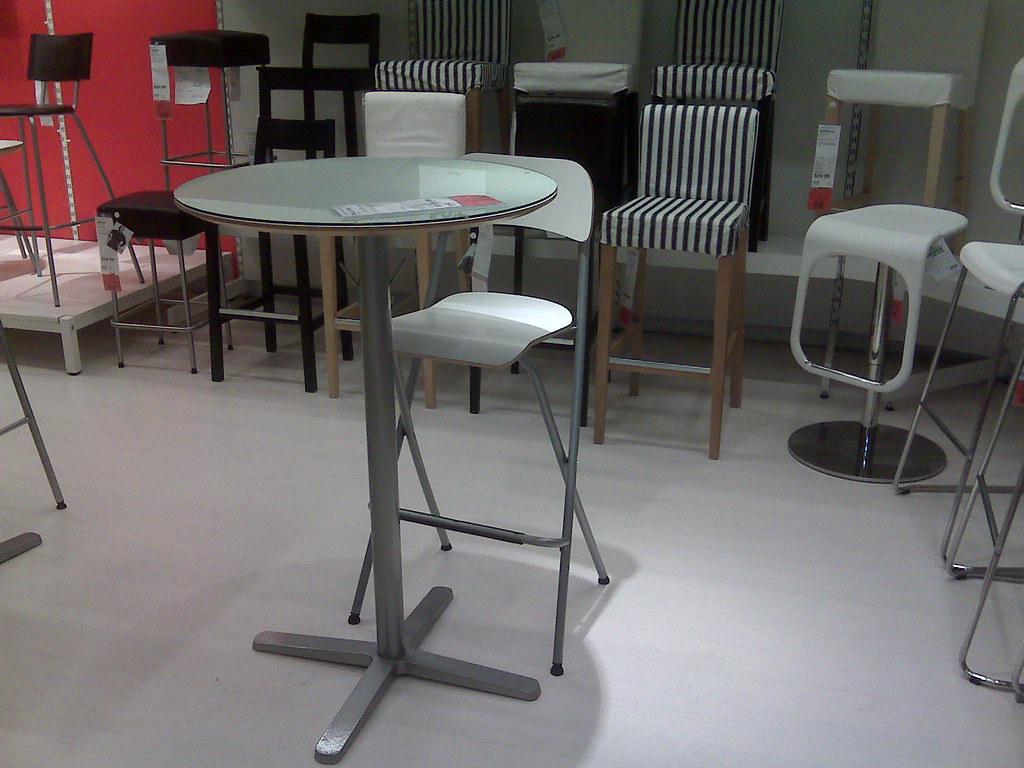 Ikea bar table and bar chair