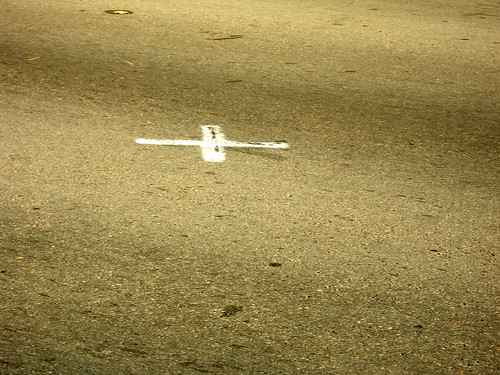 X marks Kennedy's fatal spot.