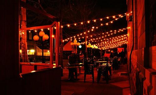 Pauper's Pub patio Toronto, Canada.