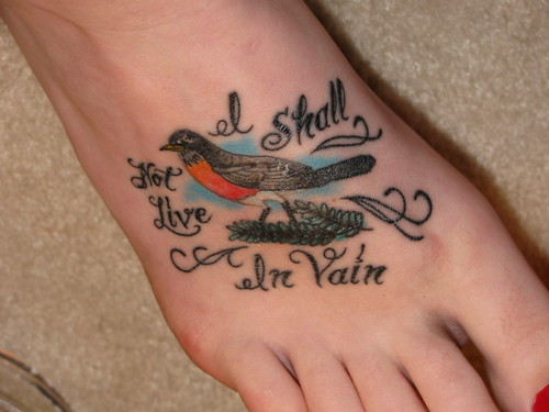 poem tattoo. robin. robin tattoo