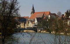 View at Tbingen from Neckar bank (KF-Photo) Tags: architecture neckar tbingen stiftskirche tamron70300 eberhardkarlsbrcke