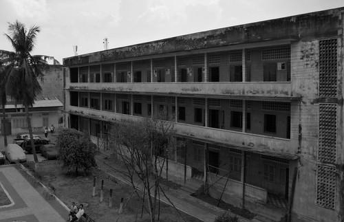 S21 - B&W Tuol Sleng Prison Barrack