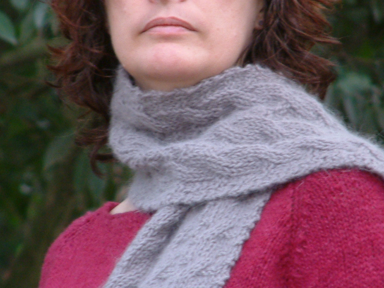 Reversible cable scarf | Wenswoolgathering