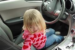 Catie driving