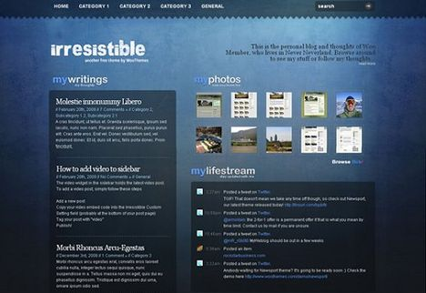 Irresistible WordPress Theme