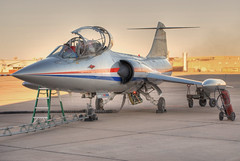 lockheed cf-104d starfighter (MatthewPHX) Tags: arizona 3 phoenix airplane airport nikon exposure raw mark aviation fresh gateway lockheed hdr mesa sherman fuel f104 aza starfighter cf104 d90 iwa photomatix kiwa 3exposure marksherman phoenixmesagatewayairport fuelfresh fuelfreshinc