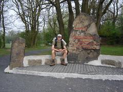 Am Zeppelin Gedenkstein auf der Erpeler Ley