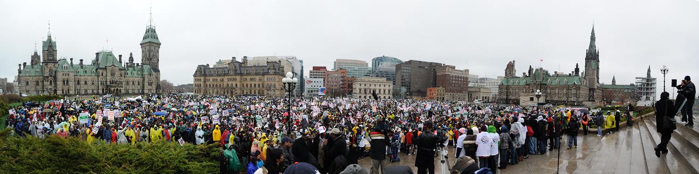Tamil Protest Panorama