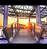 Landungsbrücken, Hamburg (schoebs) Tags: bridge sunset rooftop metal canon eos evening hamburg sigma ambient 1020mm landungsbrücken hdr borders 40d