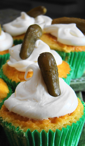 Pickles and Ice Cream Cupcake