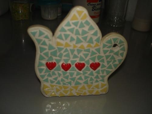 mosaico de biscuit