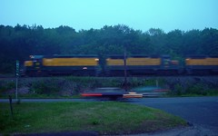 Strates Train Heading North (blazer8696) Tags: railroad 2004 connecticut ct brookfield locomotive danbury housatonic strates hrrc gp35 dsc02194 t2004