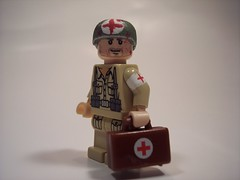 Medic! (Andrew F.) Tags: world two war lego injury ii ww2 medic browning m1919