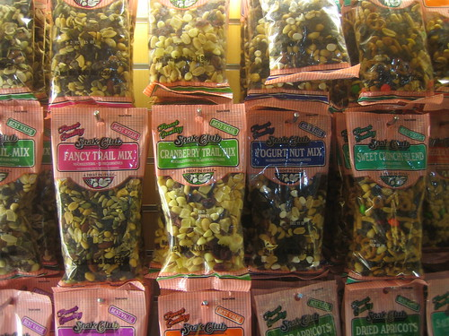Picture that shows that there are lots of different trail mixes, from fancy to sweet and crunchy