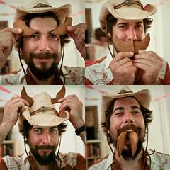 gingerbread man (sgoralnick) Tags: birthday party brian horns mustache rancher cowboyhat taurus eyebrows handlebarmustache runningofthebulls gingerbreadcookies sabreteeth rotb taurian rotb2009