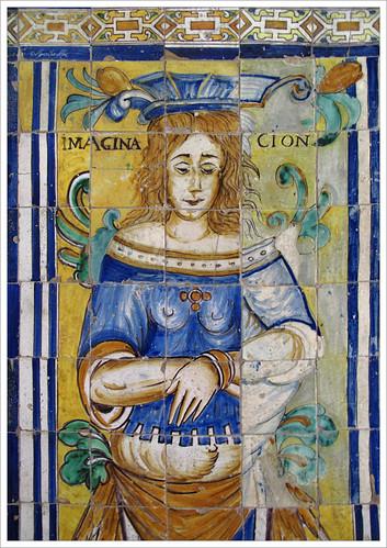 Resultado de imagen de azulejos del pensamiento y la imaginación alcazar