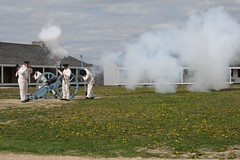Actors at Fort Snelling firing the cannon (sassyseltzer) Tags: cannon mothersday fortsnelling