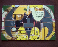 Batman inspired Mosaic with Gift Cards (Jupita) Tags: art recycled mosaic upcycled trashion jupita