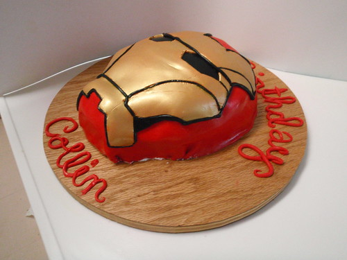 Iron Man Cake Side