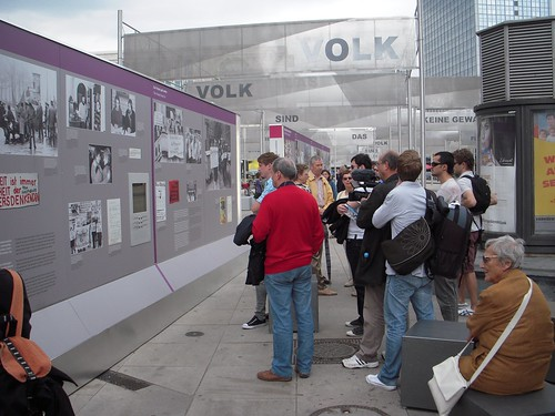 Alexanderplatz is home to a fantastic exhibit on the fall of the Berlin Wall in 1989