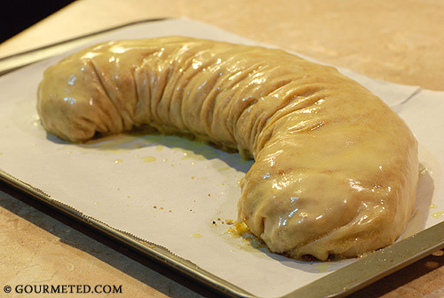 Raspberry and Rainier Cherry Strudel