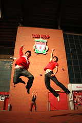 EXCITEMENT (AzFiqs) Tags: england liverpool canon happy fan jump excited malaysian kop anfield scouser the 400d azfiqs