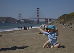 Jack on Baker Beach (kellyclairehoffer) Tags: bakerbeach godengate
