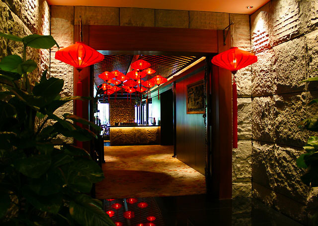 Entrance of Cherry Garden on 5th Floor of Mandarin Oriental, Singapore