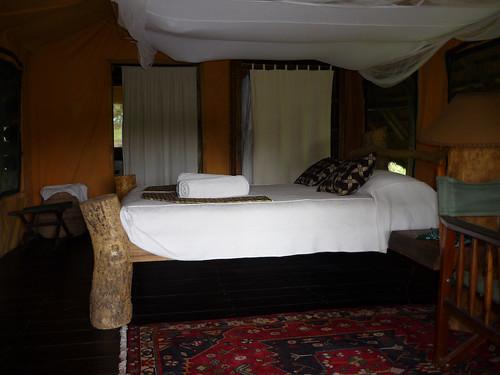 Our stunning tent (!) at Semliki Safari Lodge