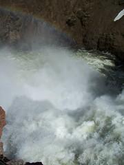 brink of Upper Falls Yellowstone river (laurielabar) Tags: cliff rock waterfall rainbow canyon falls foam yellowstonenationalpark flume yellowstoneriver grandcanyonoftheyellowstone upperfalls yellowstonepark montanatrip09