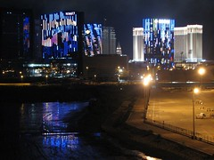 City of dreams (Melinda ^..^) Tags: city light reflection night hotel airport neon casino apron mel dreams hyatt venetian crown melinda macau accommodation nite  taipa coloane cotai cityofdreams cotaistrip chanmelmel