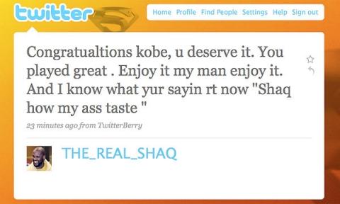 Shaq twitter