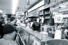 The counter at Katz's Deli