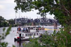 Lowry Bridge Implosion (jpellgen) Tags: bridge usa minnesota june america river mississippi boat nikon midwest smoke minneapolis twincities nikkor avenue 2009 lowry implosion 55200mm d40