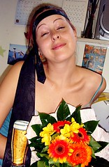 MATHEMATICIAN GIRL!!!! :D (San 42) Tags: flowers selfportrait beer girl smile crazy lol tie happiness degree mathematician kiscsaj matematikus d