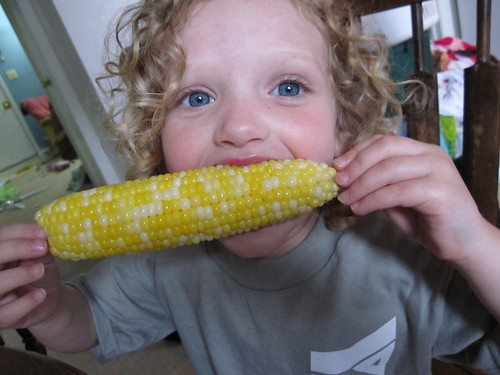 proper corn eating technique.