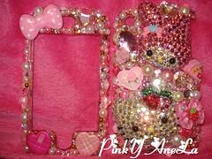 ★My New Hello Kitty & My Melody HandMade Iphone Case!!!★ (Pinky Anela) Tags: japanese tokyo hellokitty cellphone kawaii deco iphone mymelody dekoden pinkyanela