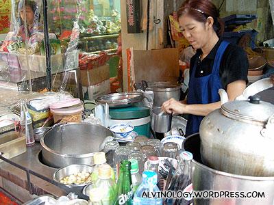 The stall vendor