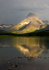 Mt Wilbur from Swiftcurrent Lake