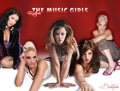 The Music Girls!!! (relax) (BETHGON blends) Tags: pink music girl christina pop gwen britney xtina blend beyonce bethgon