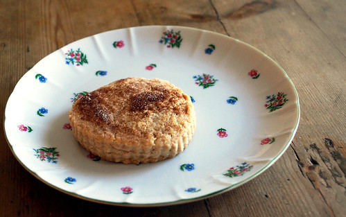 cinnamon scone on plate